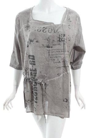 Kenny S. Shirt hellgrau Schriftzug gedruckt Washed-Optik