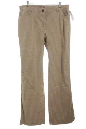 Kenny S. Straight-Leg Jeans camel Nadelstreifen Casual-Look