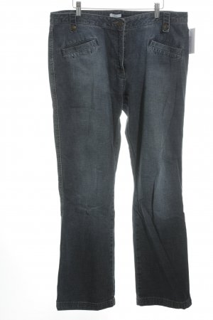 Kenny S. Straight-Leg Jeans dunkelblau Casual-Look