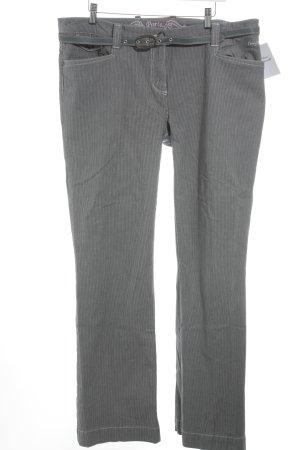 Kenny S. Straight-Leg Jeans dunkelgrau-weiß Nadelstreifen Business-Look