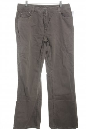 Kenny S. Straight-Leg Jeans graubraun Casual-Look