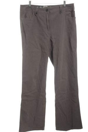 Kenny S. Straight-Leg Jeans khaki Nadelstreifen Business-Look