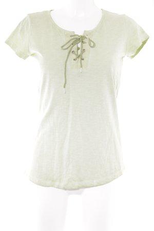 Kenny S. V-Ausschnitt-Shirt hellgrün Casual-Look
