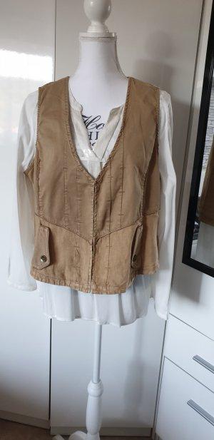 Kenny S. Denim Vest grey brown-beige