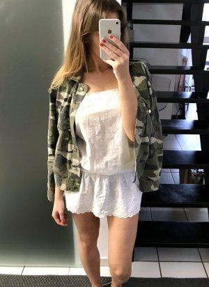 Kenvelo Kleid Sommerkleid Minikleid Rüschen weiß Volants S 36