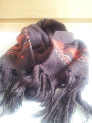 Kenvelo Winter Strick Schal Quasten aztek Muster aztec ethno neu
