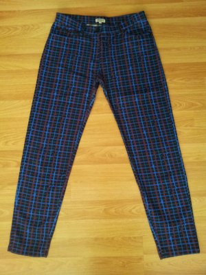 Kenzo Abstract-Plaid Jeans Cropped Slim Leg Trousers