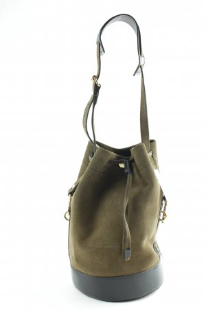 "Kenzo Borsellino ""Bike Suede Leather Bucket Bag Tea Green"""