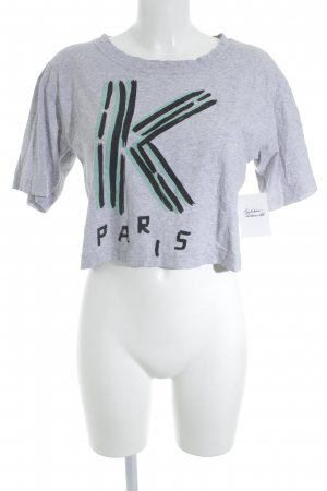 Kenzo Cropped Shirt grey printed lettering street-fashion look