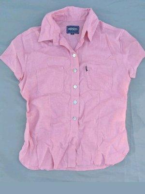 Kenzo Shirt met korte mouwen rosé Linnen