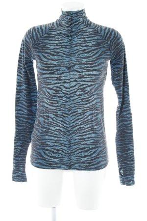 Kenzo H&M Longsleeve dunkelblau-schwarz Animalmuster Casual-Look