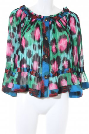 Kenzo H&M Transparante blouse abstract patroon casual uitstraling