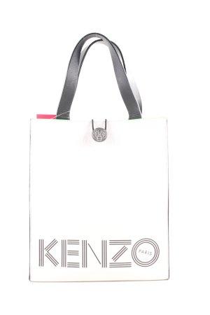Kenzo Handtasche weiß-hellgrau Schriftzug gedruckt Casual-Look