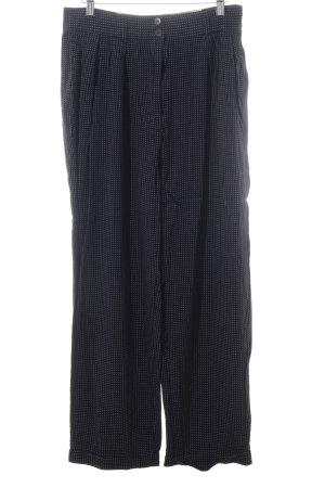 Kenzo Jeans Leinenhose weiß-schwarz Allover-Druck Casual-Look