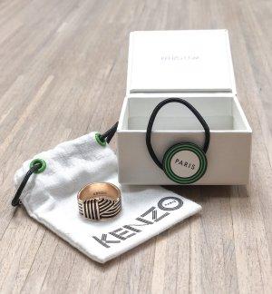 Kenzo Knot Ring in roségold/schwarz, Größe 54