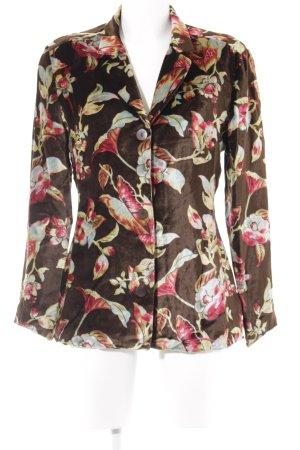 Kenzo Korte blazer bloemen patroon straat-mode uitstraling