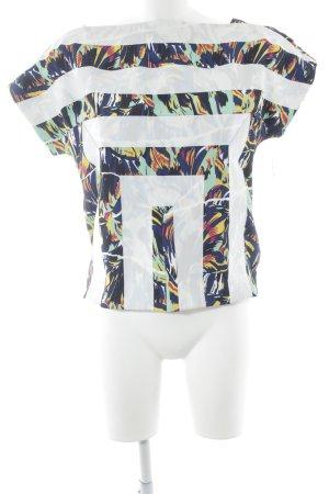 Kenzo Kurzarm-Bluse abstraktes Muster extravaganter Stil