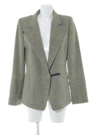 Kenzo Lange blazer groen-grijs geruite print klassieke stijl