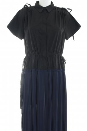 Kenzo Maxikleid schwarz-dunkelblau Business-Look