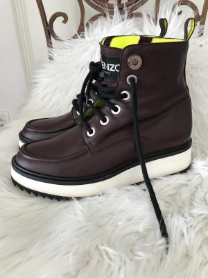Kenzo Paris Boots Schuhe Stiefel Schuhe Stiefletten Bordeaux Rot 37