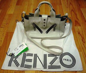 KENZO Paris Kalifornia Biker Style Bag Tasche 100 % Calf Skin Leather Leder