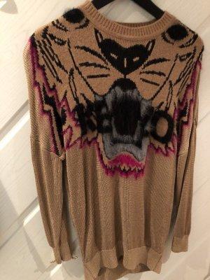 Kenzo Paris Pullover Frauen Hoodie Sweatshirt Sweater Tiger braun Gr.S