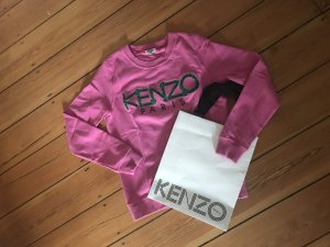Kenzo Paris Sweatshirt Hoodie Tiger Logo Top Pullover Rosa