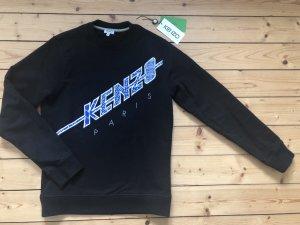 Kenzo Paris Sweatshirt Sweater Jumper Pullover schwarz blau Logo Stickerei Print Trend Blogger