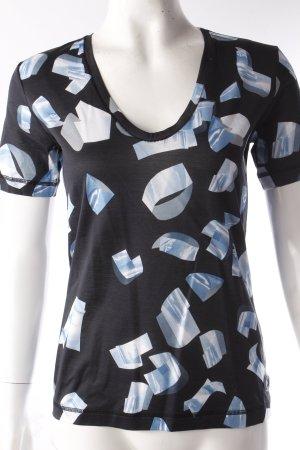 Kenzo Paris T-Shirt dunkelblau hellblaues Muster