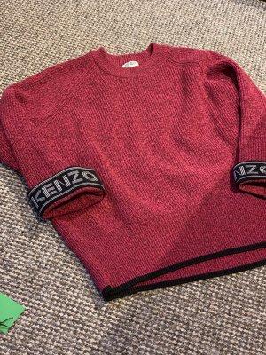 Kenzo Kraagloze sweater donkerrood-zwart Katoen