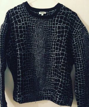 Kenzo Kraagloze sweater zwart-wit Katoen