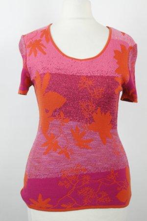 Kenzo Pullover Strickpullover Gr. S pink orange kurzarm