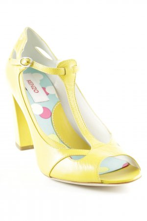 Kenzo Strapped pumps yellow extravagant style