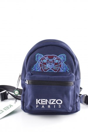 "Kenzo Zaino per la scuola ""Kanvas Tiger Mini Backpack Navy Blue"" blu scuro"