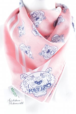 "Kenzo Seidenschal ""Tiger Head Square Scarf Flamingo Pink """