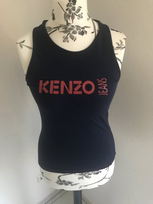 Kenzo Jeans Muscleshirt donkerblauw-rood