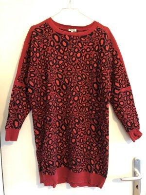 Kenzo Robe en maille tricotées rouge-noir