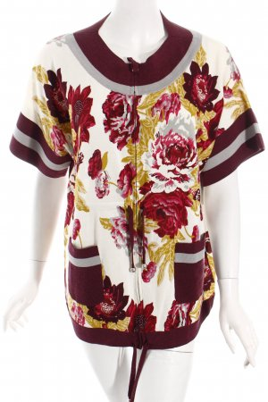 Kenzo Strickjacke Blumenmuster extravaganter Stil