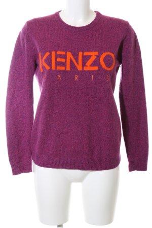 Kenzo Strickpullover pink-hellorange meliert Casual-Look