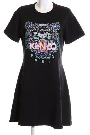 Kenzo Sweat Dress black themed print casual look