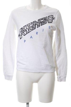 Kenzo Sweatshirt weiß Schriftzug gedruckt Casual-Look