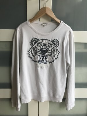 Kenzo Kraagloze sweater wit-donkerblauw