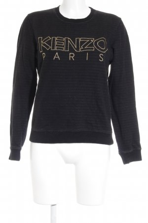 Kenzo Sweat Shirt black-gold-colored casual look