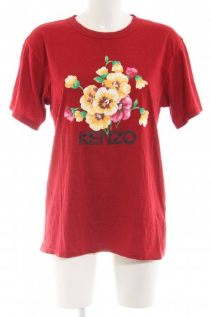Kenzo T-Shirt Blumenmuster Casual-Look