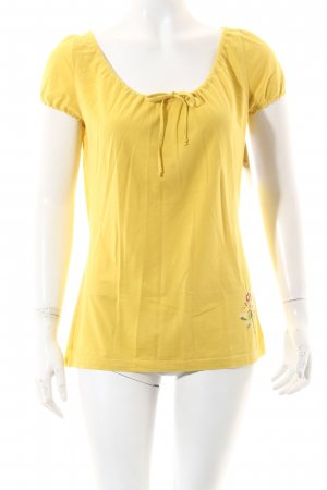 Kenzo T-Shirt limettengelb Motivdruck Casual-Look
