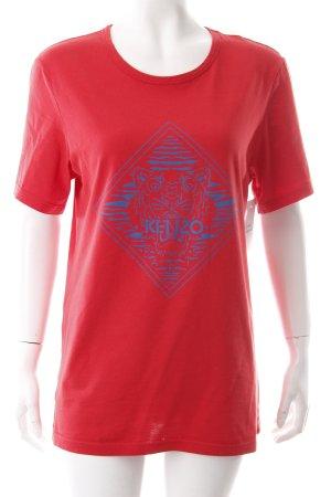 Kenzo T-Shirt rot-stahlblau Skater-Look