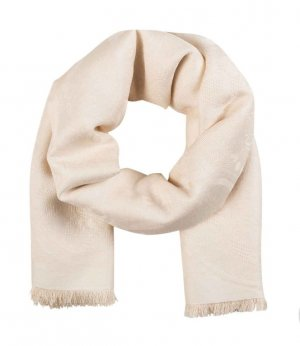 Kenzo Ton in Ton Tuch Halstuch Schal Scarf Nude Creme Tiger Jungle Paris