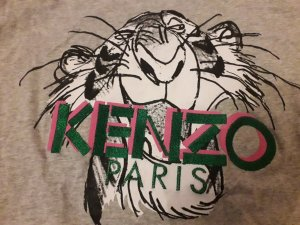 Kenzo T-Shirt silver-colored