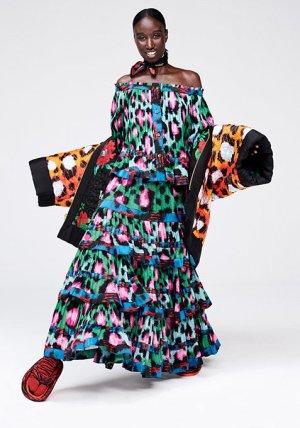 Kenzo H&M Gonna multicolore Cotone