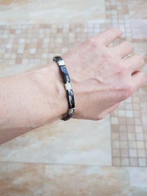 Keramikarmband Armband Armschmuck Edelstahl+Keramik schwarz